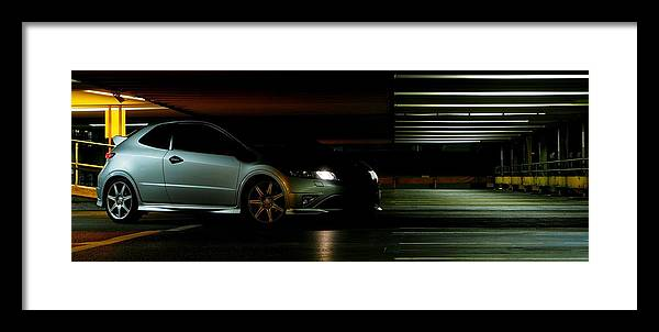Honda Framed Print featuring the photograph Civic Lights by Christopher Mercer