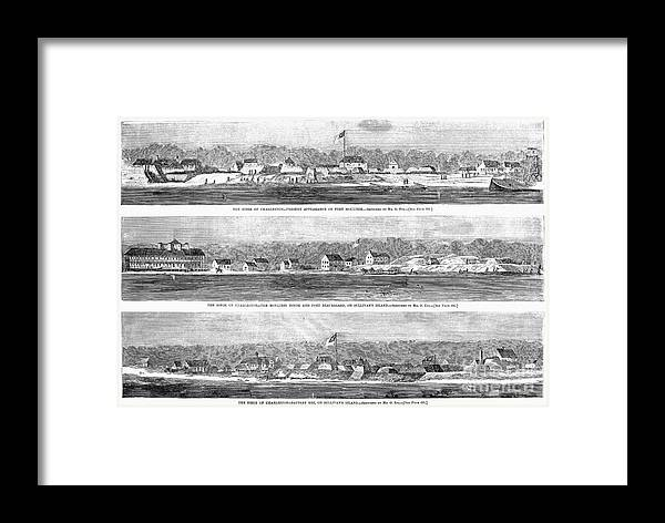 1863 Framed Print featuring the photograph Civil War: Fort Moultrie by Granger