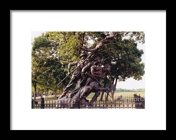 Civil War Framed Print featuring the photograph Civil War Soldiers Monument by Barbara Plattenburg