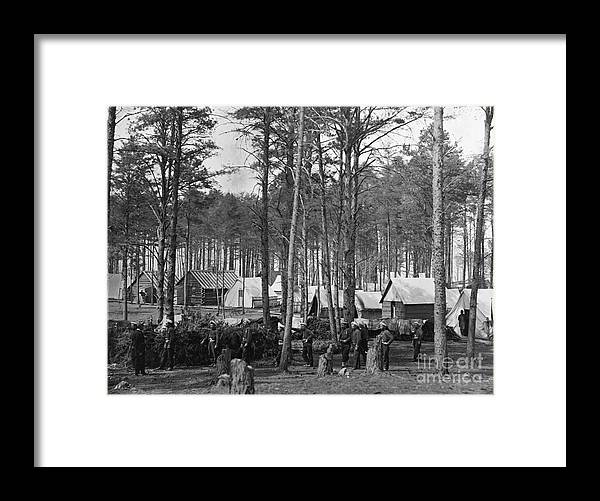 1864 Framed Print featuring the photograph Civil War: Union Camp, 1864 by Granger