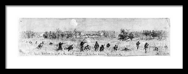 1863 Framed Print featuring the photograph Civil War: Union Troops by Granger