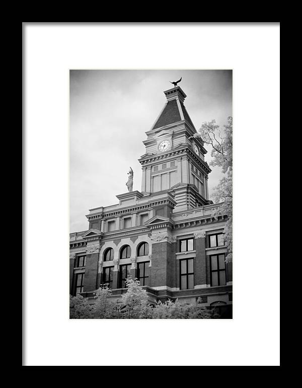 Window Framed Print featuring the photograph Clarksville Court House by Paul Bartoszek