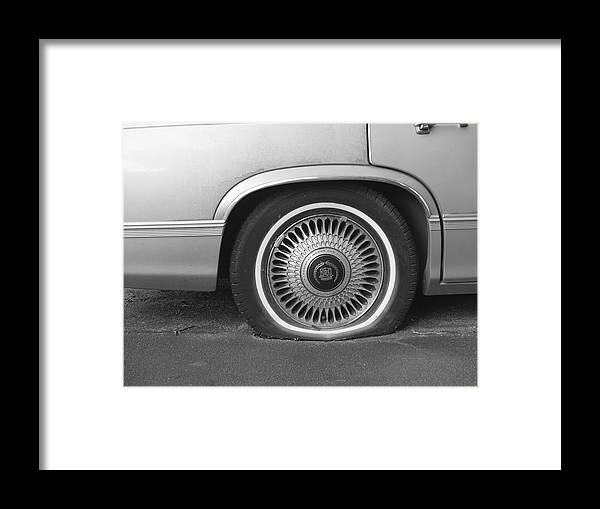 Flat Tire Framed Print featuring the photograph Classic Flat by Patricia McKay