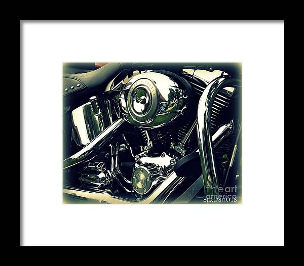 Classic Framed Print featuring the photograph Classic Harley by Emily Kelley