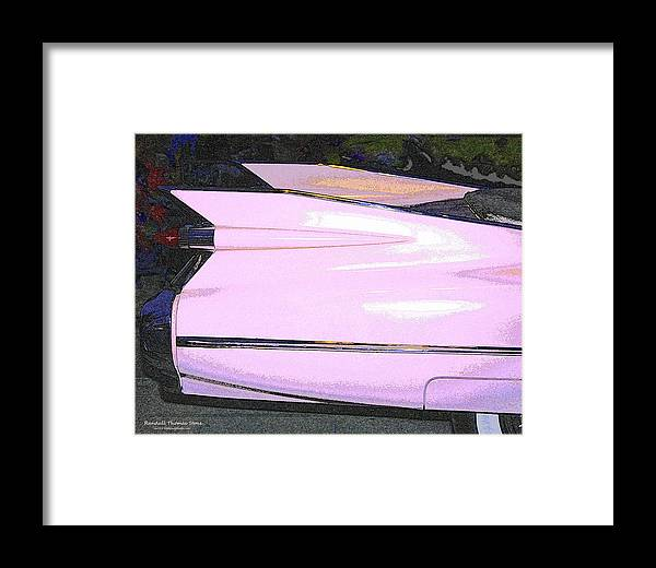 Cadillac Framed Print featuring the photograph Classic Tails - Pink 1959 Cadillac by Randall Thomas Stone