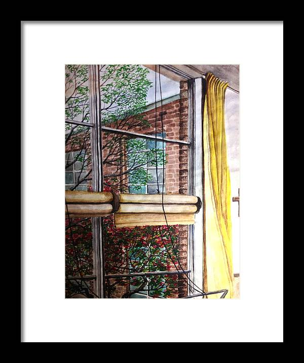 Water Color Framed Print featuring the painting Classroom Window by MB Matthews