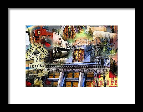 Framed Print featuring the photograph Cleburne Texas by David Carter