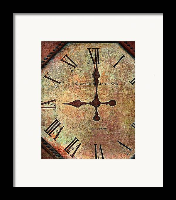 Time Framed Print featuring the photograph Clevedon Clock by Robert Smith