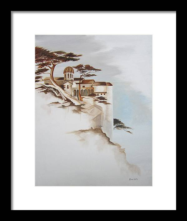 Tree Framed Print featuring the painting Cliff Palace by Clare Duffy