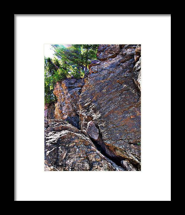Photo Framed Print featuring the photograph Climbing Rocks And Trees by Phil Perkins