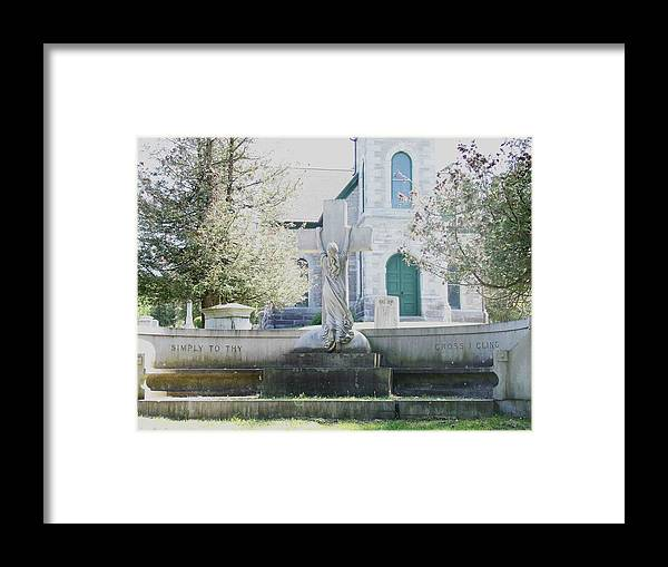 Religious Framed Print featuring the photograph Cling by Dennis Comins