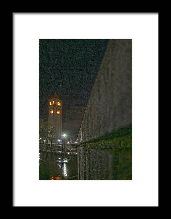 Framed Print featuring the photograph Clock Tower by Dan Quam