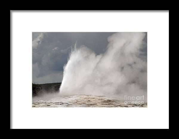 Old Faithful Framed Print featuring the photograph Close Up Of Old Faithful by Living Color Photography Lorraine Lynch