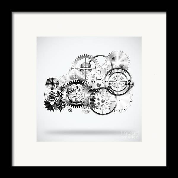 Art Framed Print featuring the photograph Cloud Made By Gears Wheels by Setsiri Silapasuwanchai