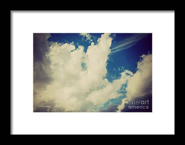 Drama Queen Framed Print featuring the photograph Clouds-7 by Paulette B Wright