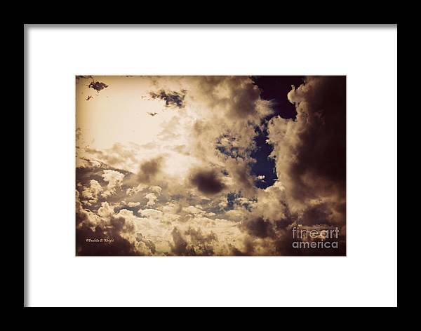 Clouds Framed Print featuring the photograph Clouds-8 by Paulette B Wright