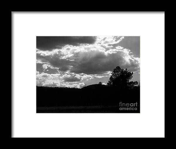 Clouds Framed Print featuring the photograph Clouds At Dusk by Pamela Walrath