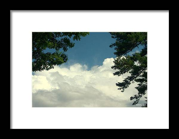 Clouds Over Malletts Bay Framed Print featuring the photograph Clouds At Malletts Bay by Mark Holden