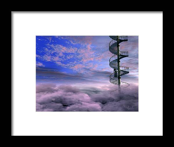 Abstract Framed Print featuring the digital art Clouds by Christopher Lynch