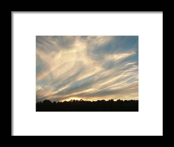 Clouds Framed Print featuring the photograph Clouds Delight by Don Downer