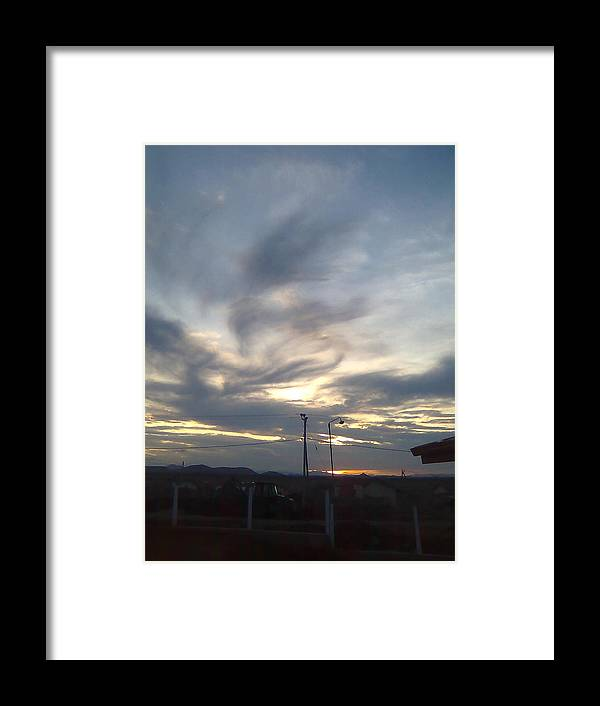 Clouds Framed Print featuring the photograph Clouds by Mahboobdeen Fathima sameera farwin