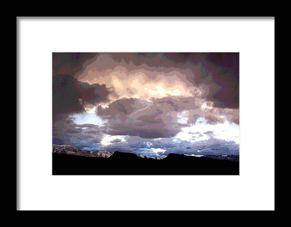 Landscape Framed Print featuring the photograph Clouds Natural Art by Patricia Haynes