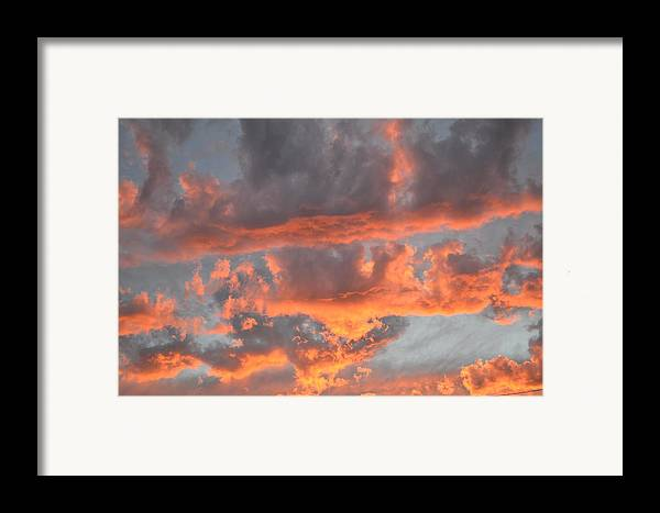 Sunset Framed Print featuring the photograph Clouds On Fire by Kevin Bone