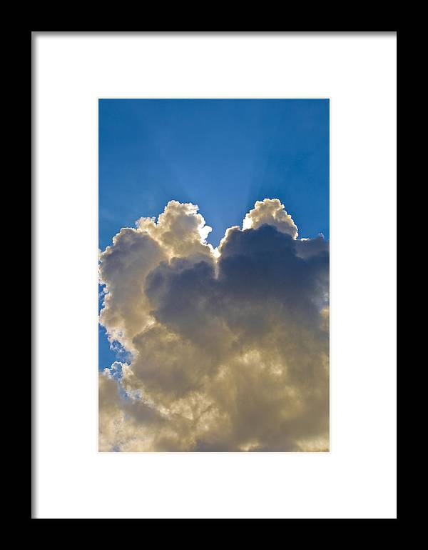 Clouds Framed Print featuring the photograph Clouds1 by Patrick M Lynch