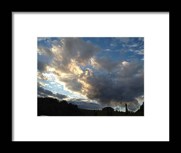 Landscape Framed Print featuring the photograph Cloudy Sky by Rebecca Thompson