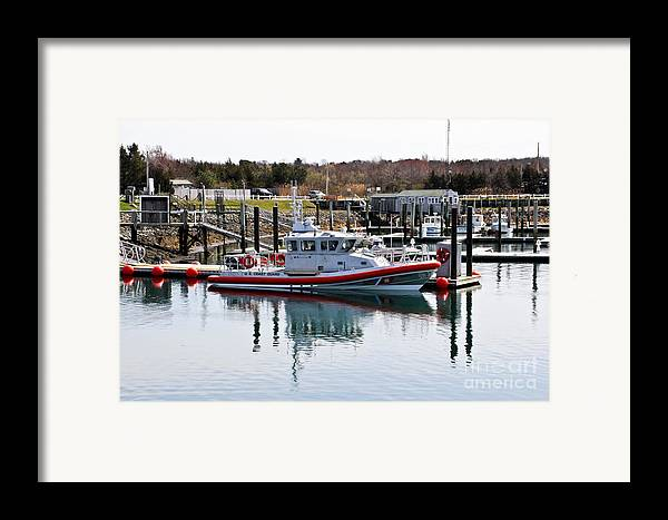 Cape Cod Framed Print featuring the photograph Coast Guard by Extrospection Art
