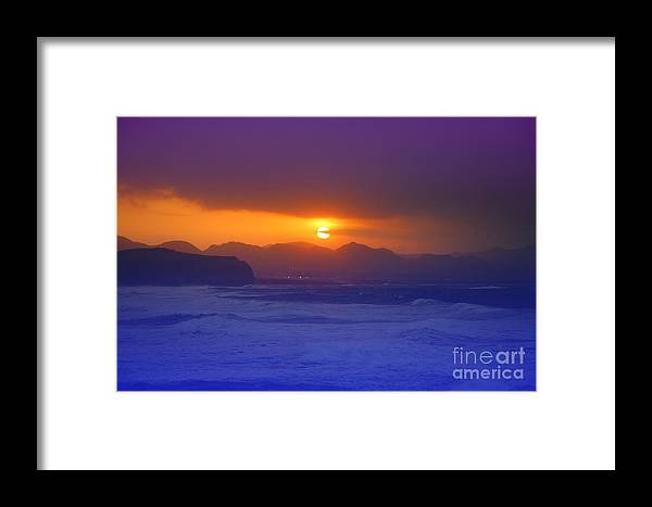 Sunset Framed Print featuring the photograph Coastal Sunset by Gaspar Avila