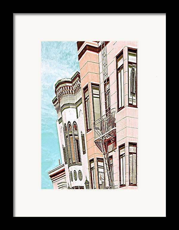 San Francisco Framed Print featuring the digital art Coat In The Window by Artist and Photographer Laura Wrede