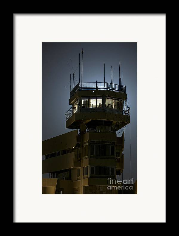 Night Framed Print featuring the photograph Cob Speicher Control Tower by Terry Moore