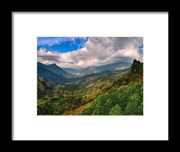 Cocora Valley Framed Print featuring the photograph Cocora Valley by Skip Hunt