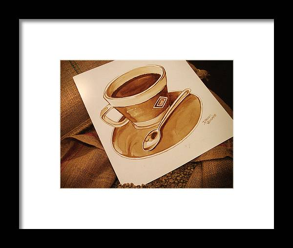 Coffee Cup Framed Print featuring the painting Coffee Cup by Dirceu Veiga