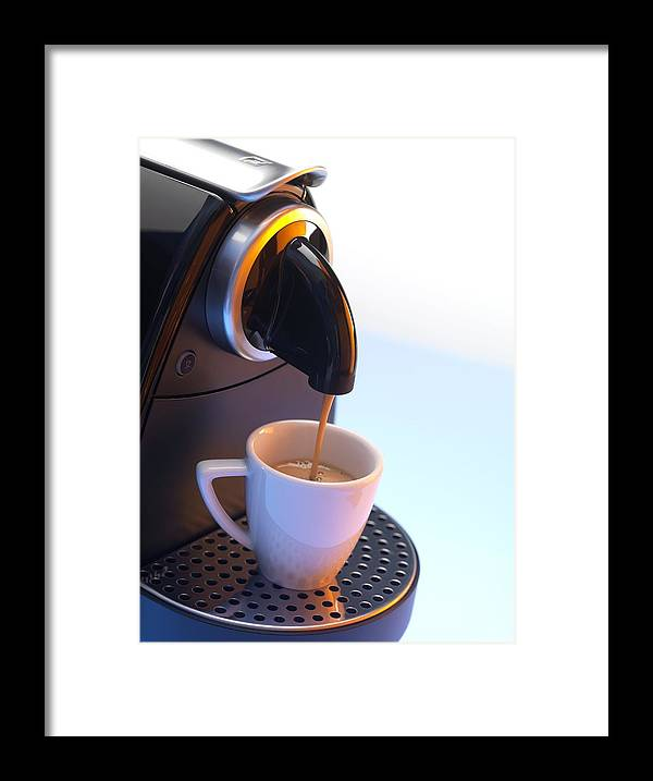 Beverage Framed Print featuring the photograph Coffee Machine by Tek Image