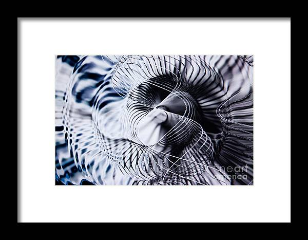 Abstract Framed Print featuring the photograph Cold Storm by Tashia Peterman
