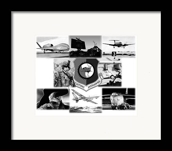 B-52 Framed Print featuring the mixed media Collage by Lyle Brown