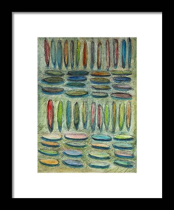 Abstract Framed Print featuring the painting Collection Of Imaginary Items by James Raynor