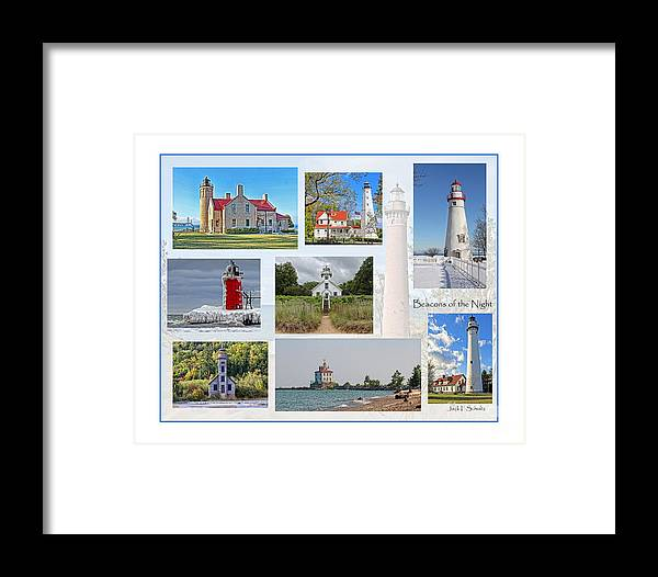 Lighthouses Framed Print featuring the photograph Collection Of Lighthouses by Jack Schultz