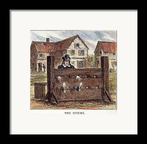 17th Century Framed Print featuring the photograph Colonial Stocks by Granger