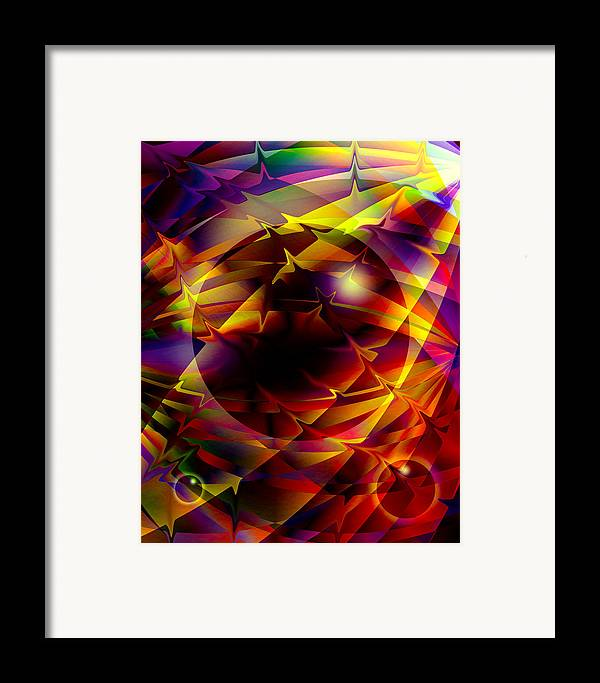 Abstract Framed Print featuring the digital art Color Design by Anthony Caruso