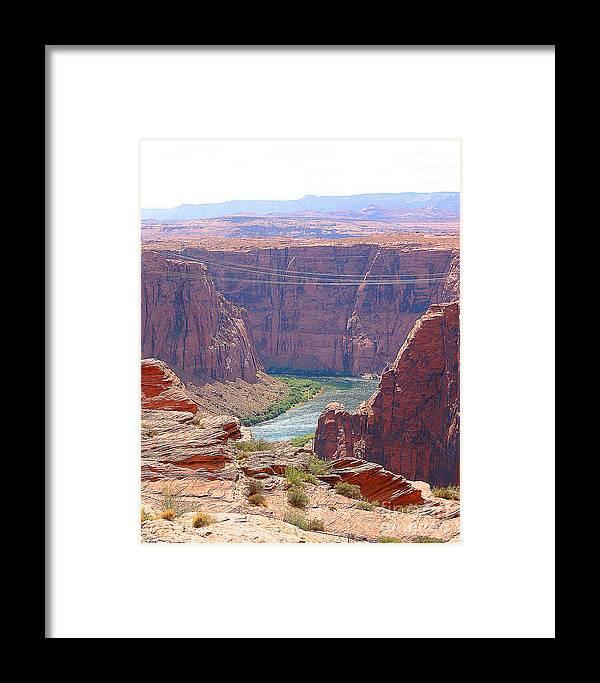 Colorado River Framed Print featuring the photograph Colorado River In Arizona by Merton Allen
