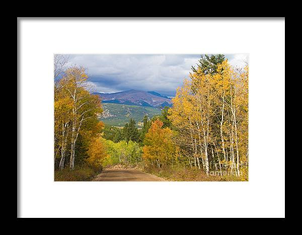 Colorful Framed Print featuring the photograph Colorado Rocky Mountain Autumn Scenic Drive by James BO Insogna