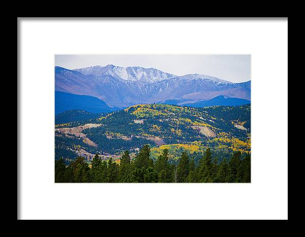 Autumn Framed Print featuring the photograph Colorado Rocky Mountain Autumn View by James BO Insogna