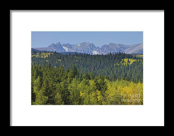 Colorado Framed Print featuring the photograph Colorado Rocky Mountain Continental Divide Autumn View by James BO Insogna