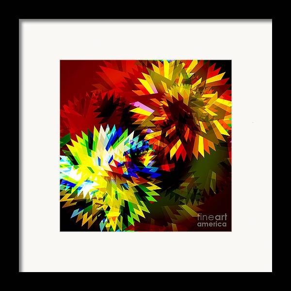 Art Framed Print featuring the digital art Colorful Blade by Atiketta Sangasaeng