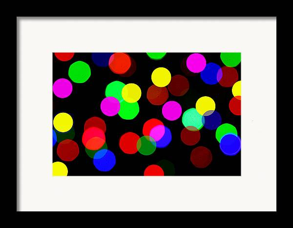 Bokceh Framed Print featuring the photograph Colorful Bokeh by Paul Ge