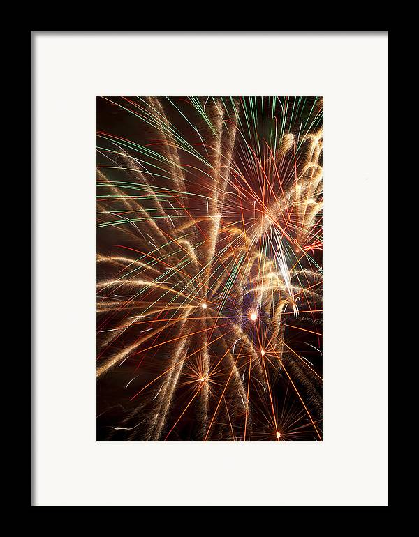 4th Of July Framed Print featuring the photograph Colorful Fireworks by Garry Gay