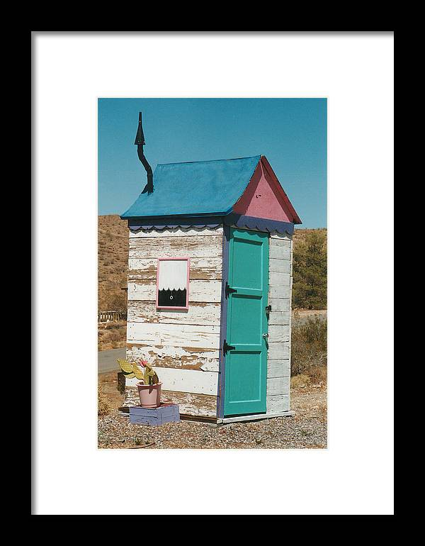 Outhouse Framed Print featuring the photograph Colorful Outhouse by Mel White Photo